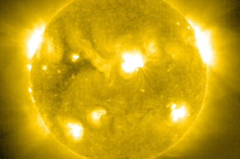 Imagen del Sol captada por el observatorio SOHO de la NASA el 6 de septiembre.