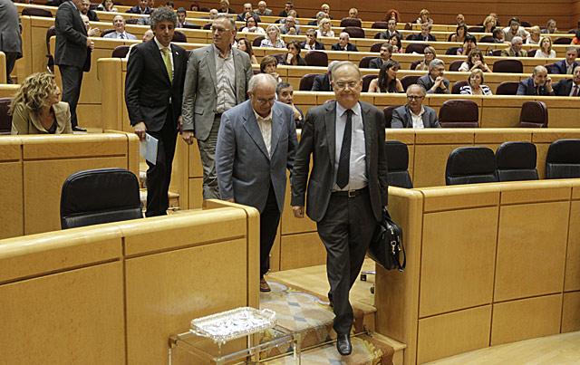 Senadores nacionalistas abandonan el pleno antes de la votación. | Alberto Cuéllar