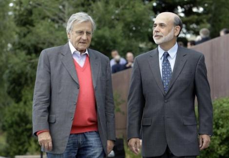 El presidente del BCE, Jean-Claude Trichet, y el de la Fed, Ben Bernanke. | Ap