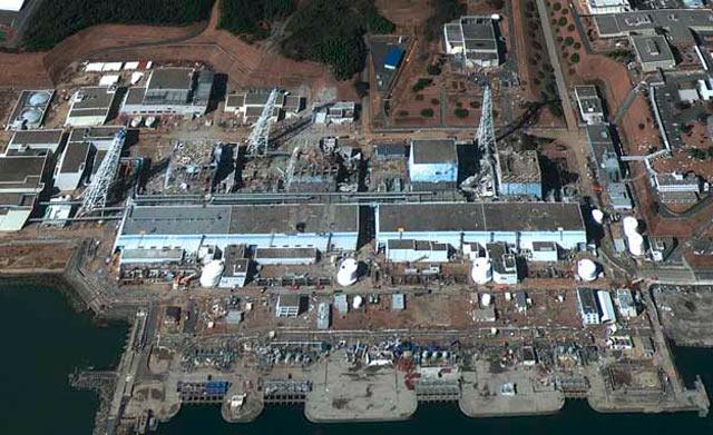 Vista aérea de la central nuclear de Fukushima. | Reuters