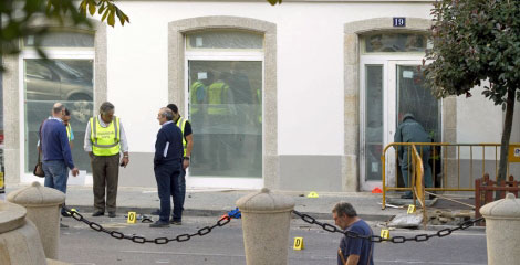 La sede de la Fundación Fraga fue atacada en septiembre.   Efe