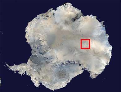 Localización del lago Vostok en la Antártida. | Reuters