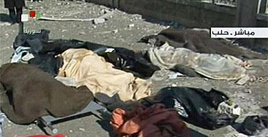Imagen de la televisión siria. VEA MÁS IMÁGENES