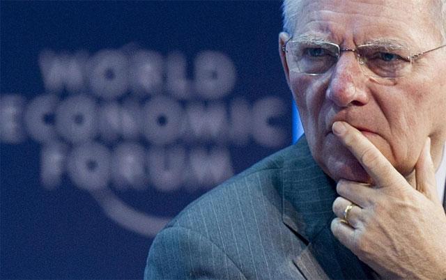 Schäuble, en un seminario sobre el futuro de la zona euro en el Foro de Davos. | Efe