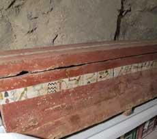 Detalle del ataúd del guerrero Iqer, hallado intacto. |R.M.T.