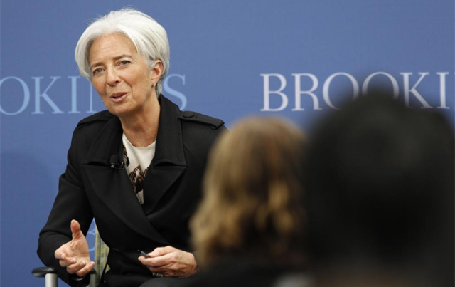 Conferencia de Christine Lagarde en el Brookings Institution. | Reuters