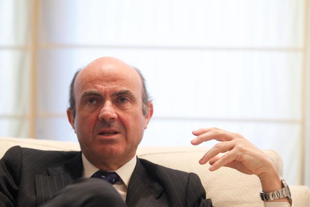 El ministro de Economía y Competitividad, Luis de Guindos. | José Aymá
