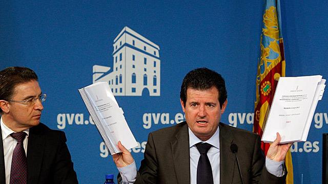 José Císcar y Serafín Castellano en rueda de prensa | Efe