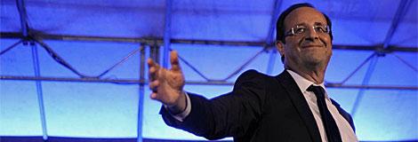 François Hollande, tras ganar las elecciones.| Afp