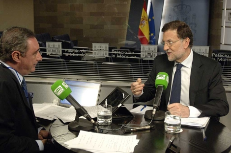 Rajoy, durante su entrevista en Onda Cero. | Foto: Onda Cero