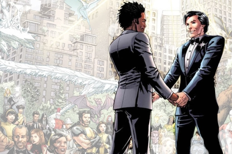 La boda de North Star, en Central park. | Marvel