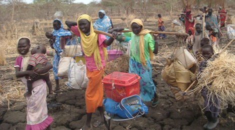 Refugiados en busca de agua en el estado del alto Nilo. / JEAN MARC JACOBS / MSF