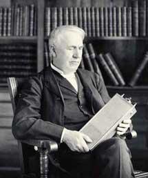 Edison con la batería de níquel-hierro.