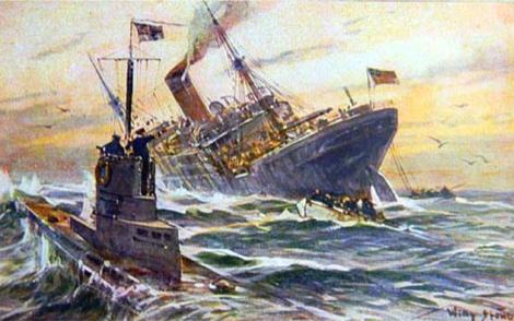 Ilustración que recrea el ataque al Woodford.