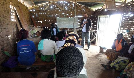 Raimundo Rivas, coordinador de proyectos de Farmamundi en Congo.