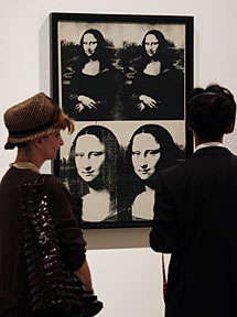 Double Mona Lisa. | AFP