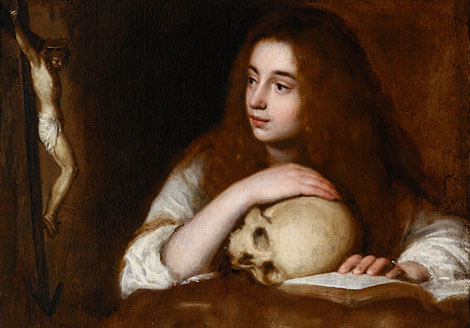 'María Magdalena', atribuido a la escuela de Velázquez.