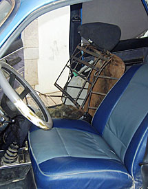 El asiento del coche. | E.M.