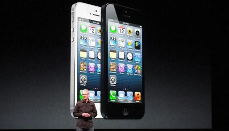 Tim Cook, en la presentación del iPhone 5. | Afp