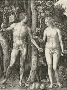 'Adán y Eva' (1504).