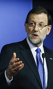 Rajoy, en rueda de prensa. | Efe