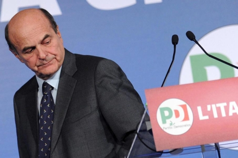 El lder del centroizquierda italiano, Pier Luigi Bersani, en Roma. | Efe