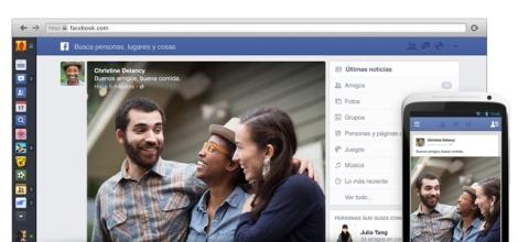 Así es el nuevo diseño de la página principal de Facebook.