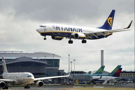 Aterrizaje en el aeropuerto de Dubln. | Ryanair