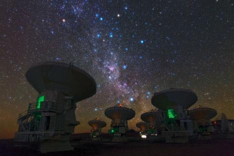 Vía Láctea desde el Observatorio ALMA. | ESO