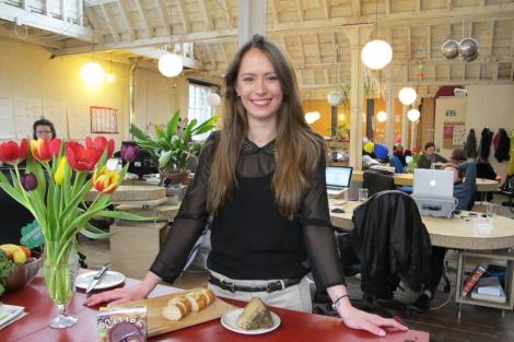 Christina Rebel, fundadora de 2Pueblo, en el Hub de Islington.