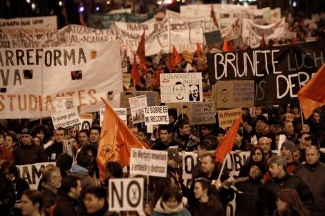 Manifestación de profesores en Madrid. | A. Di Lolli