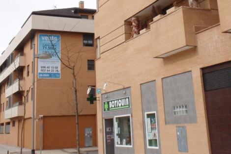 Viviendas en poder del banco malo en Yebes (Guadalajara). | J.F.L.