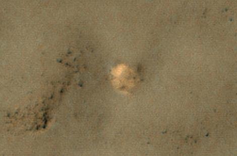 Posible resto del paracaídas de la sonda rusa Mars 3. | NASA