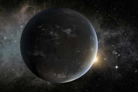 Recreación artística del planeta 'Kepler-62f'.  NASA