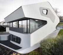 Casa diseñada por el estudio de Jürgen Mayer H. en Stuttgart.