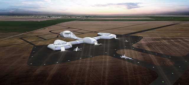 Diseño del puerto espacial de Front Range, a 20 kilómetros del aeropuerto internacional de Denver. | Luis Vidal