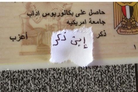Cané de identidad egipcio