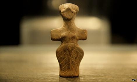 Figura humana del Neolítico. | AFP