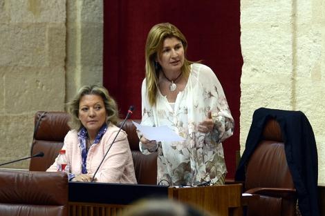 La diputada del PP por Almería Rosalía Espinosa, en el Parlamento.