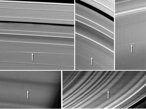Impactos de meteoritos en Saturno detectados por la sonda Cassidi. | NASA