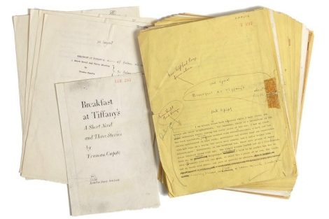 Imagen del manuscrito con anotaciones de Truman Capote. | Afp / RR Auction