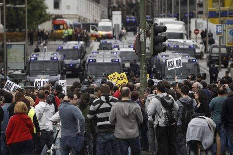 Imagen de la manifestación del pasado jueves ante el Congreso. | A. di Lolli