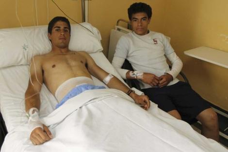 Rafael Cerro y Brandon Campos, este lunes, en La Fraternidad. | Alberto Cuéllar