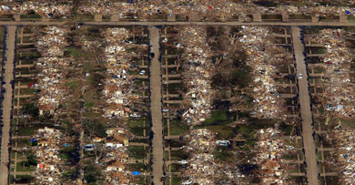 Imagen area de Moore, una de las zonas ms afectadas. | Afp Ms fotos