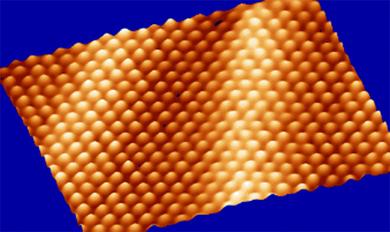 �tomos de oro observados con un microscopio de efecto t�nel. | CSIC