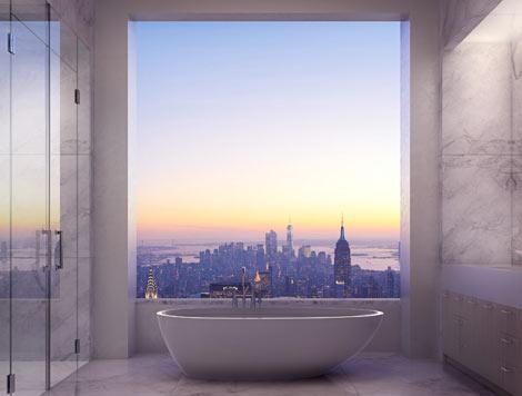 Recreación virtual de las vistas desde uno de los apartamentos. | Efe