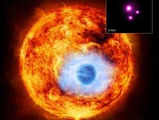'HD 189733b' delante de su estrella. | NASA