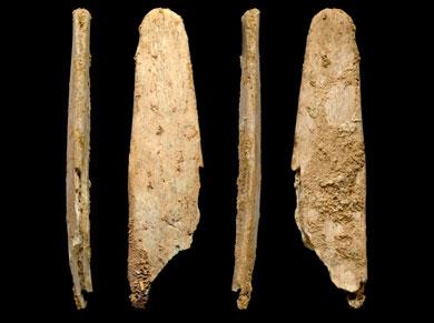 Cuatro vistas de la herramienta mejor conservada de las cuatro.