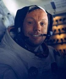 N. Armstrong en el módulo lunar.| NASA