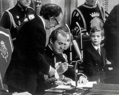 La sanción real, en 1978. | EL MUNDO